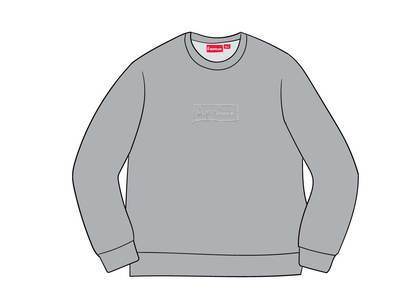 Supreme Cutout Logo Crewneck Heather Greyの写真