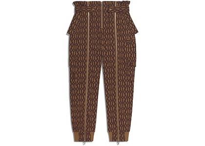 adidas Ivy Park Monogram Zipper Pants Wild Brown/Night Red (SS21)の写真
