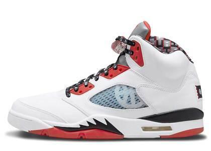 Nike Air Jordan 5 Quai 54 White Redの写真