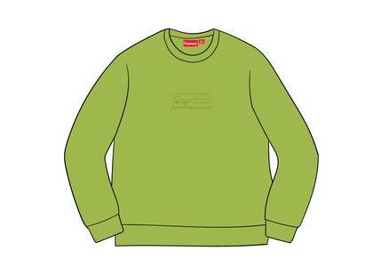 Supreme Cutout Logo Crewneck Limeの写真