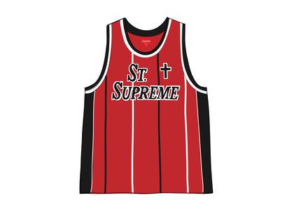 Supreme St. Supreme Basketball Jersey Redの写真
