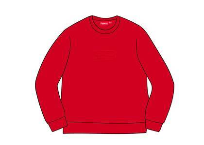 Supreme Cutout Logo Crewneck Redの写真