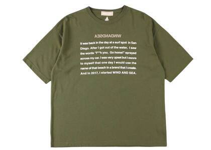 Wind And Sea A32 Basis Sea T Shirt Oliveの写真