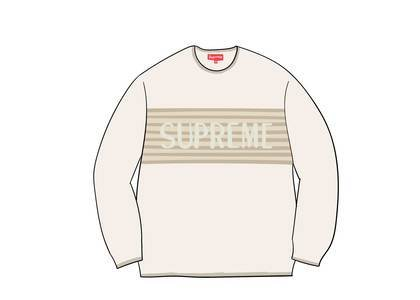 Supreme Chest Stripe Sweater Ivoryの写真