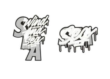 It's A Living × Wind And Sea Sticker 2pcs Whiteの写真