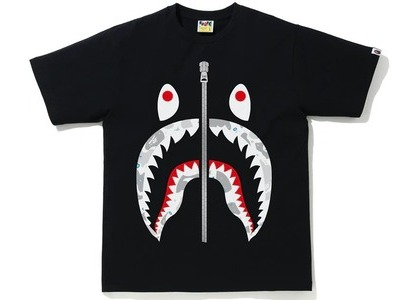 Bape Space Camo Shark Tee Black (SS21)の写真