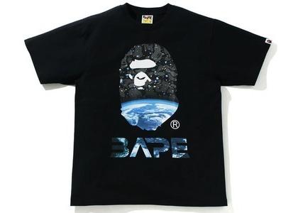 Bape Space Camo Ape Head Tee Black (SS21)の写真