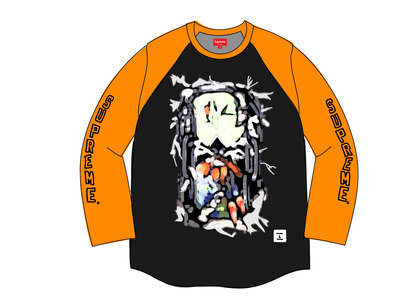 Supreme Hourglass Raglan L-S Top Orangeの写真