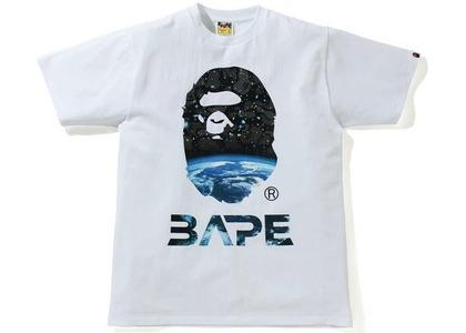 Bape Space Camo Ape Head Tee White (SS21)の写真