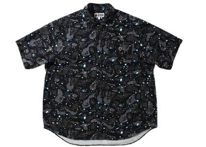 Bape Space Camo Loose Fit S/S Shirt Black (SS21)の写真