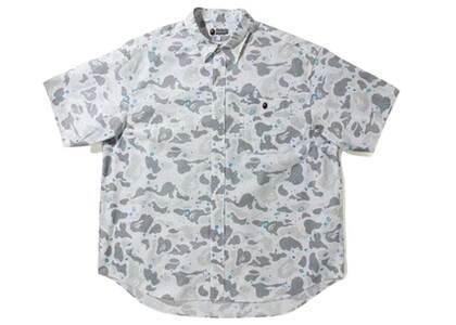 Bape Space Camo Loose Fit S/S Shirt White (SS21)の写真
