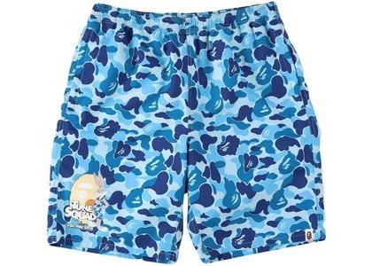 Space Jam × Bape Abc Camo Beach Shorts Blue (SS21)の写真