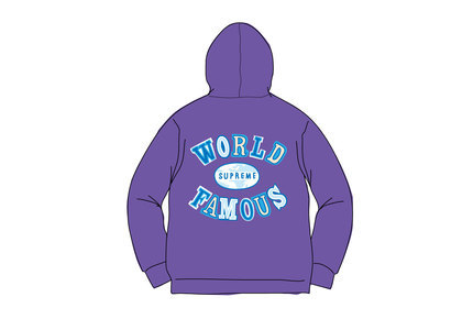 Supreme World Famous Zip Up Hooded Sweatshirt (SS20) Dark Royalの写真