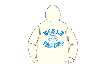 Supreme World Famous Zip Up Hooded Sweatshirt (SS20) Naturalの写真