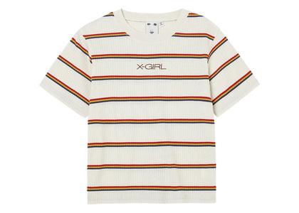 X-girl Multi Stripe Baby S/S Top Whiteの写真