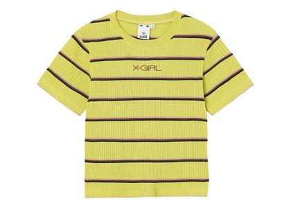 X-girl Multi Stripe Baby S/S Top Light Greenの写真