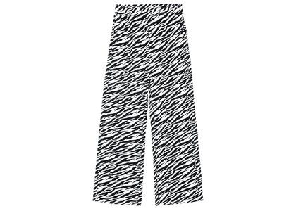 X-girl Multi Pattern Easy Straight Pants Zebra 105215031012の写真