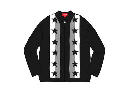 Supreme Stars Zip Up Sweater Polo Blackの写真