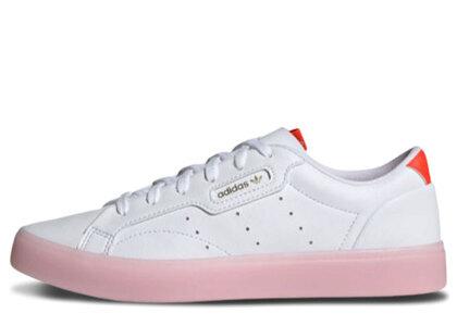 adidas Sleek White/Pinkの写真