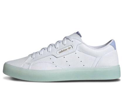 adidas Sleek White/Light Blueの写真