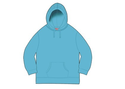Supreme Overdyed Hooded Sweatshirt (SS20) Bright Blueの写真