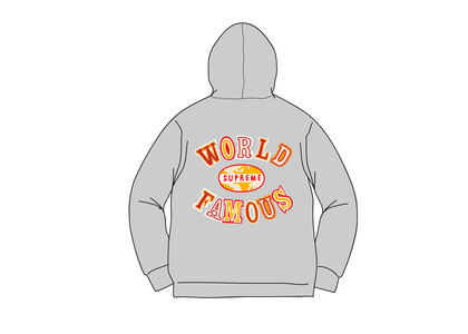 Supreme World Famous Zip Up Hooded Sweatshirt (SS20) Heather Greyの写真