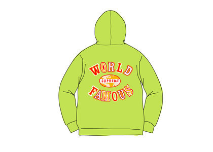 Supreme World Famous Zip Up Hooded Sweatshirt (SS20) Limeの写真