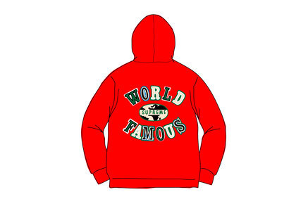 Supreme World Famous Zip Up Hooded Sweatshirt (SS20) Redの写真