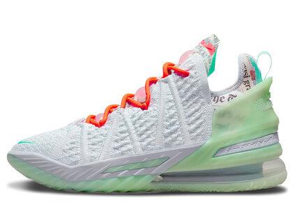 Nike LeBron 18 Blue Tint White/Greenの写真