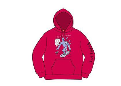 Supreme Daniel Johnston Hooded Sweatshirt Fuchsiaの写真