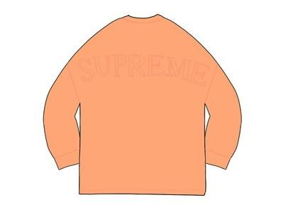 Supreme Overdyed L-S Top Bright Peachの写真
