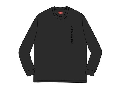 Supreme Overdyed L-S Top Blackの写真