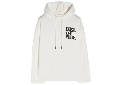 Off-White Katsu Graffiti Hoodie White Womensの写真