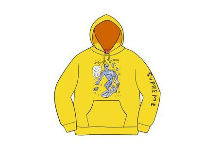 Supreme Daniel Johnston Hooded Sweatshirt Lemonの写真