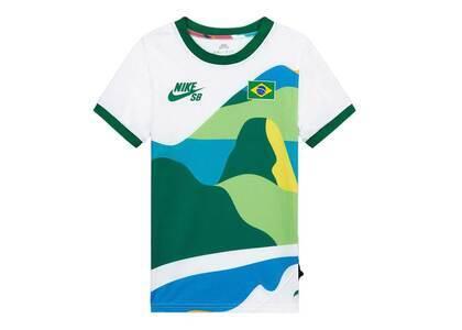 Nike SB × Parra Federation Kit T Shirt Youth Ringer Jersey Brazil Kids Whiteの写真