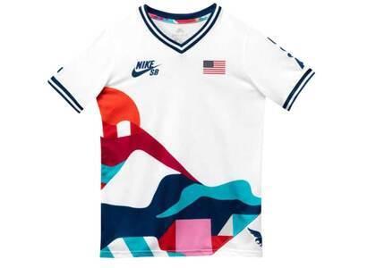 Nike SB × Parra Federation Kit T Shirt V Neck Jersey USA Whiteの写真