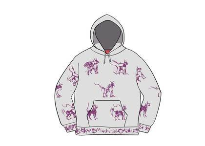 Supreme Animals Hooded Sweatshirt Ash Greyの写真
