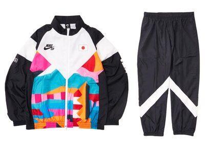 Nike SB × Parra Federation Kit Track Suits Japan White/Blackの写真
