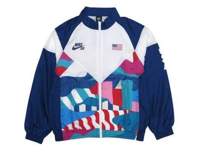 Nike SB × Parra Federation Kit Track Suits USA White/Blue