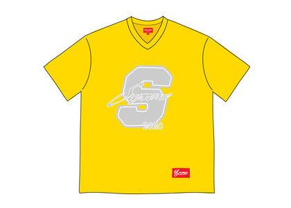 Supreme Glitter Football Top Yellowの写真