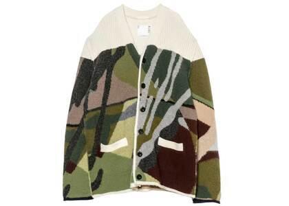 KAWS x Sacai Jacquard Knit Cardigan Camouflageの写真