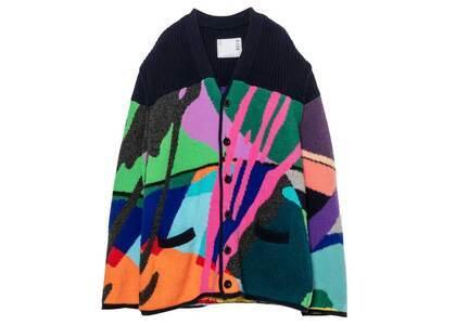KAWS x Sacai Camo Knit Cardigan Blackの写真