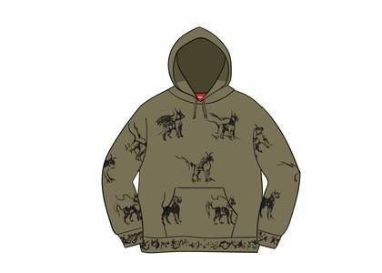 Supreme Animals Hooded Sweatshirt Light Oliveの写真