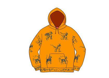 Supreme Animals Hooded Sweatshirt Goldの写真