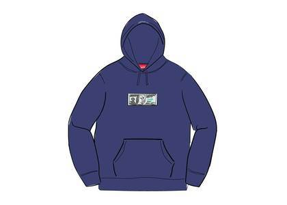 Supreme Franklin Hooded Sweatshirt Washed Navyの写真