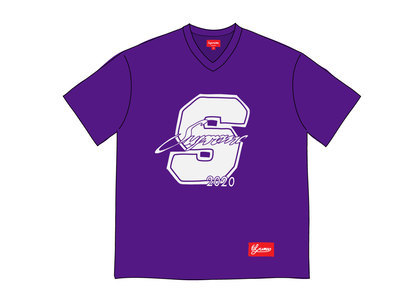 Supreme Glitter Football Top Purpleの写真