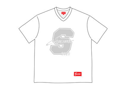 Supreme Glitter Football Top Whiteの写真