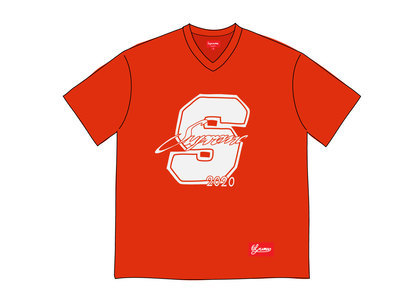 Supreme Glitter Football Top Redの写真