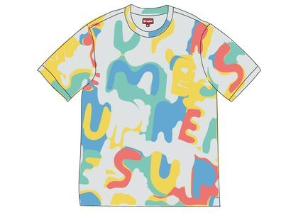 Supreme Painted Logo S-S Top Naturalの写真