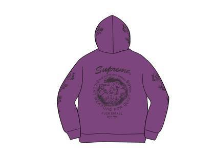 Supreme Dragon Overdyed Hooded Sweatshirt Bright Purpleの写真